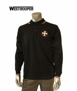 Футболка Westrooper Iron Kruz Polo Shirt чорна