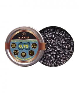 Кулі круглі Winner 0,75 г кал.4,5 мм(300шт.)
